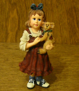 """Boyds Resin Ornament(s) #25861 Samantha with Connor... Best Friends, NIB 3.5"""""""