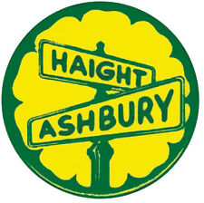 Haight Ashbury San Francisco  CA Vintage Style 1960's Travel Decal sticker Label