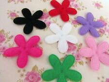 "70 BIG 2"" Felt Daisy Flower 7 Color Applique/Bow/Trim/Craft/Padded/Sewing H85"