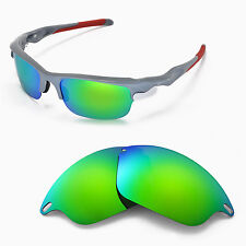 New WL Polarized Emerald Replacement Lenses For Oakley Fast Jacket Sunglasses