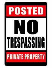 NO TRESPASSING PRIVATE PROPERTY Sign.Durable Aluminum.NO RUST Security Sign .
