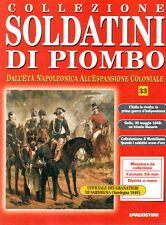 FASCICOLO COLLEZIONE SOLDATINI DI PIOMBO N. 33 - LA PRIMA GUERRA D'INDIPENDENZA