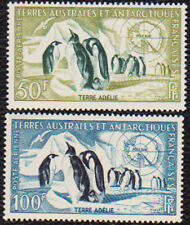 FSAT French Antarctic 1956 Penguins C1 - 2 TAAF Y 2/3 NH