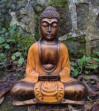 Hand Painted Resin Sitting Thai Buddha 30cm tall