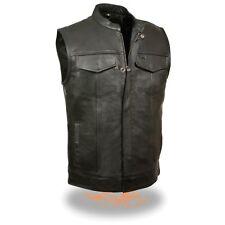 Milwaukee Leather para hombre hijos de la anarquía Chaleco Estilo Club Con Cremallera & Cierre ** LKM3710