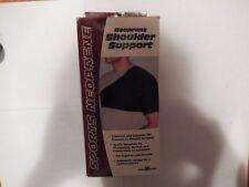 Safe-T-Sport Neoprene Shoulder Support, Black, Large, New, #11G