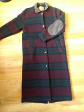 WOOLRICH Womens Red Teal Wool Navajo Blanket Southwest Coat Large elbow patch