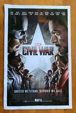 Marvel's Captain America: Civil War Movie Poster 2016 11x17 Used Previously Hung