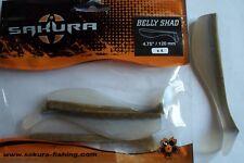 Leurre souple Sakura Belly Shad 12cm Natural Brown Back