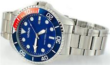 LORUS Watch,LUMIBRITE-Hands&HourMark,BlueDial,Date,St/Steel,WR100,Mens,RH941GX-9