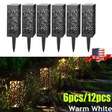 6/12pc Outdoor Solar LED Lawn Light Decor Garden Yard Patio Path Landscape Lamps