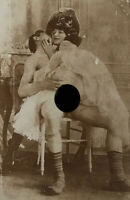 Rare Victorian Couple at Play - Vintage Photograph - 1880-1900