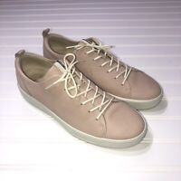 Ecco Women's Soft 8 Leather Comfort Sneakers Shoes Size 42 US 11 Rose Dust Pink