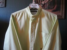XL 17.5-36 SOLID LIGHT GREEN TOMMY HILFIGER BANDED COLLARLESS WESTERN SHIRT