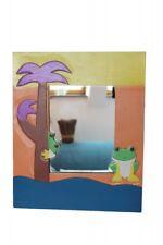 Hübscher Wandspiegel Kinderspiegel handbemalt Frosch 40cm x 33cm