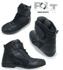BOLT R22  ADULTS MOTORCYCLE MOTORBIKE SHORT BOOTS NEW BLACK NEW 2017 UK SIZE 12