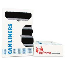 AccuFit Can Liners Prime Resin 33 x 44 1.3 mils Black 100/Carton H6644PKR01