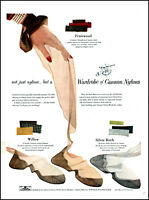1949 Woman's Hand red nails Cannon Nylons Stockings vintage photo print ad adL59