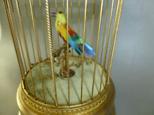 ANTIQUE FRENCH BONTEMS SINGING BIRD CAGE BIRD AUTOMATON MUSIC BOX (WATCH VIDEO)