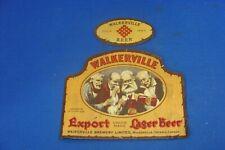 CANADA BEER LABEL - WALKERVILLE EXPORT LAGER BEER