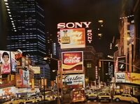 Ken Keeley,TIME SQUARE Night,Changing Scene 1995 Ltd.Edition Serigraph, Numbered