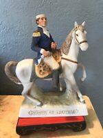 Vintage Marquis De Lafayette Grenadier Porcelain Decanter Whiskey Bottle Good