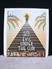 RARE CED VideoDisc Agatha Christie's: Evil Under the Sun, Thorn EMI Video, Titan