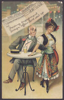 """Post Office Telegraph """"Pressing Engagement Foreign Affair Don't Wait Up"""" 1908 PC"""