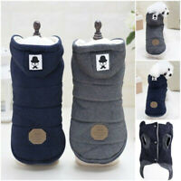 Thicken Jackets Outfits Hoodie Dog Coats Pet Clothes Cotton Winter Warm