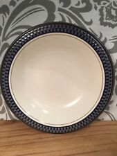 Mikasa Aztec Blue Potter's Touch Soup Cereal Bowl High Fired Ironstone #Shelf