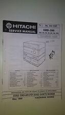 Hitachi hrd-200 service manual original repair book stereo tape player