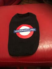 Small Dog Tshirt Vest. Official London Underground. Size 12. Dogs 10-16lb. New