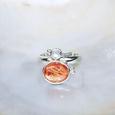 Sonnenstein Ring, 925er Silber, Edelsteinring (21429), AAA-Qualität, Mondstein