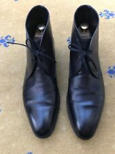 John Lobb Mens Shoes Black Leather Lace Up boots UK 9 US 10 EU 43