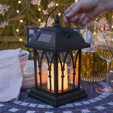 More details for 27cm solar power outdoor garden flickering led hanging candle lantern light