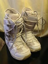 Dc Women's Phase White traditional Lacing Snowboard Boots Ladies sz 8
