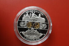 Münze/Medalie*Europäische  Währung 2002 ca.40mm Versilbert PP*Niederlande (KAS2)