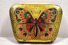 Blechdose litho mit Schmetterling um 1900, Süßigkeiten, Warenautomatendose  4