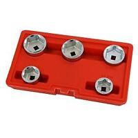 Oil Filter Socket Set Cap Wrench Kit 5 Pc 24 - 38 mm (Genuine Neilsen CT1780)