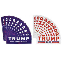10X/set Bumper Sticker 2020 Donald Trump For President Make America Great Decal