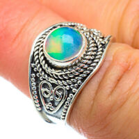 Ethiopian Opal 925 Sterling Silver Ring Size 6.75 Ana Co Jewelry R47234F