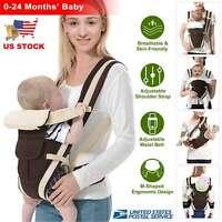 Newborn Baby Carrier Sling Wrap Backpack Ergonomic 4 Position Front Back Chest