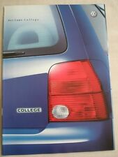 VW Lupo College brochure Apr 2001 German text + price list