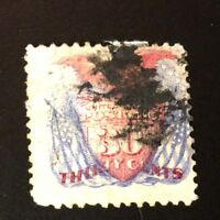 us stamps 19th century used #121 With Grill