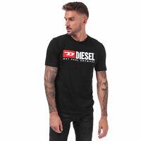 Mens Diesel Just Division T-Shirt in Black