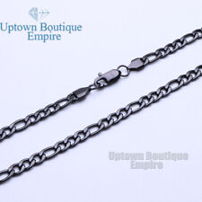 Women Men Stainless Steel Necklace 3,4,5,6,8,10,12mm Figaro Chain Link
