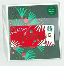 STARBUCKS Gift Card - MERRY EVERYTHING w/card & envelope- Christmas Holiday 2019