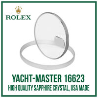 ♛ Sapphire Glass Crystal USA Made. High Quality For Rolex Yacht-Master 16623 ♛