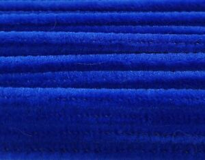 """Lot 100 Royal Blue 12"""" Long x 1/4"""" 6mm Wired Pipe Cleaners Craft Chenille Stems"""
