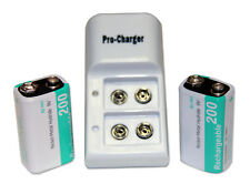 ProCharger 9v battery charger and 2 Ni-Mh chargable batteries